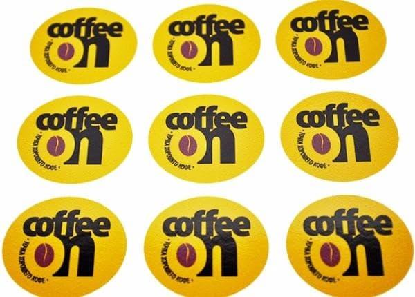 Информационные наклейки на кофе