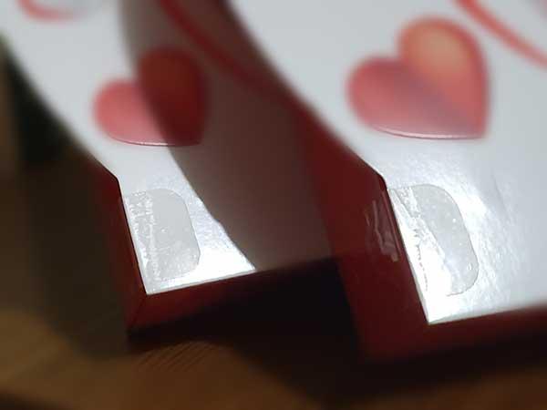 круглые наклейки для фиксации картонной упаковки